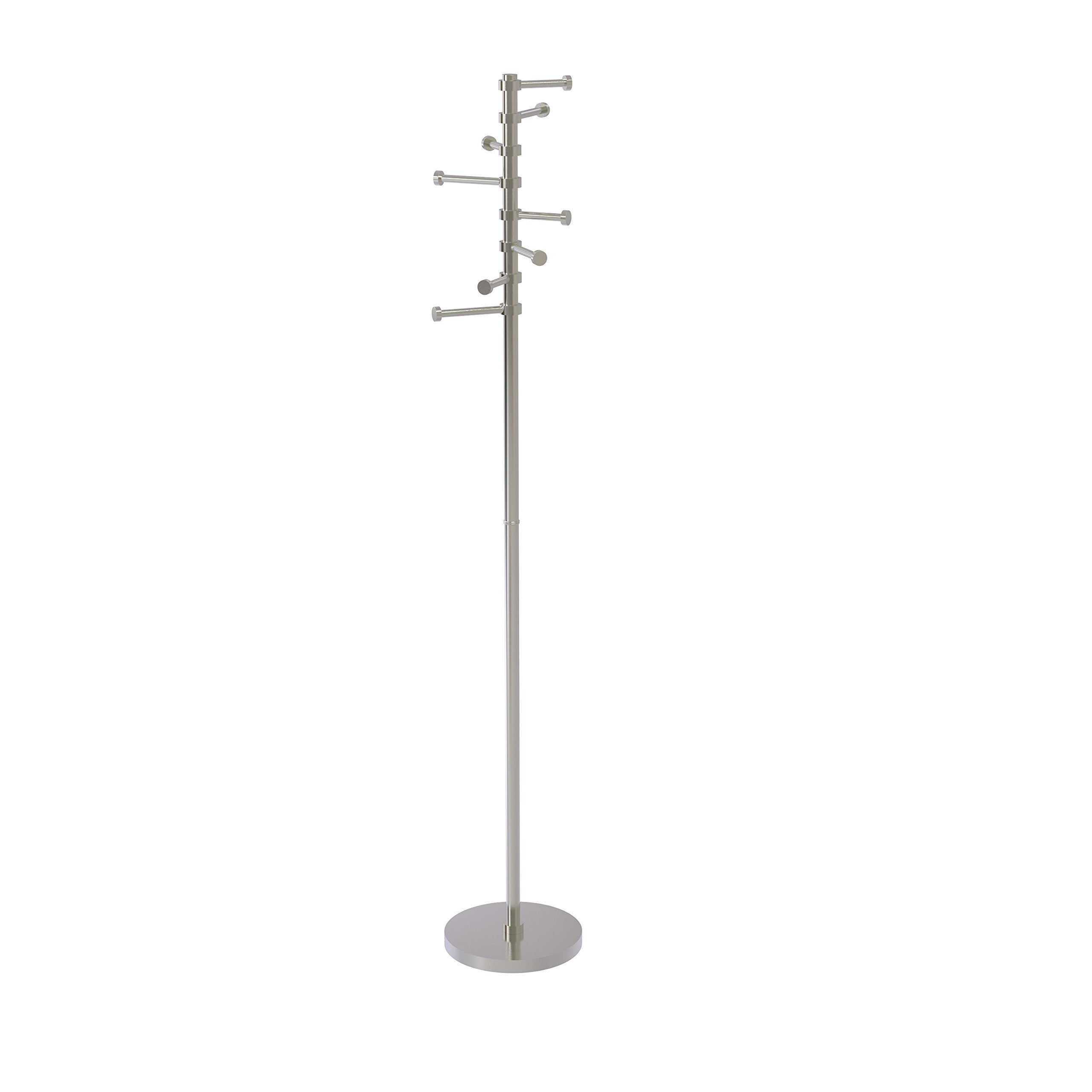 Allied Brass CS-1-SN Free Standing Coat Rack with Six Pivoting Pegs