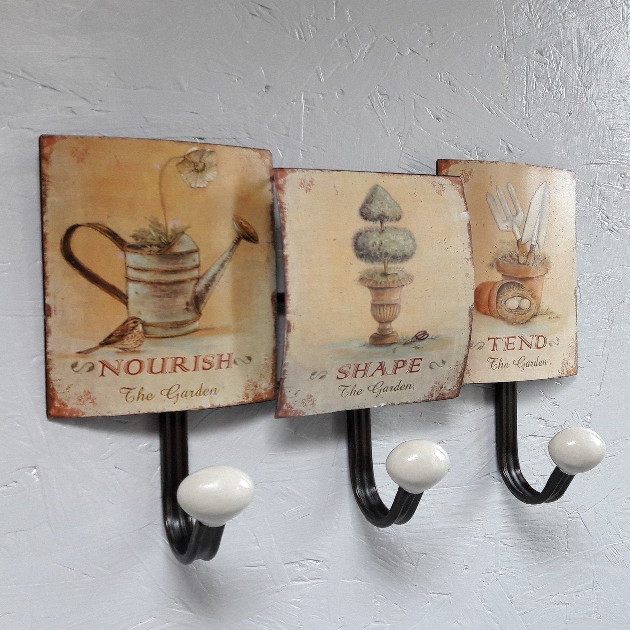Garden Rules Three Hook Coat Rack