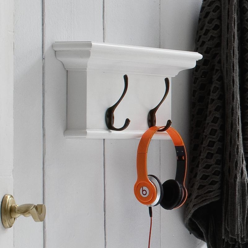 Coat Hanger Unit with 2 Brass Hooks - CLEARANCE