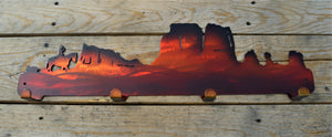Custom Candy Painted Western Coat Rack