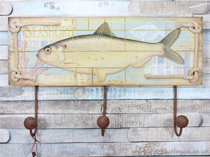 Seashore fish coat rack