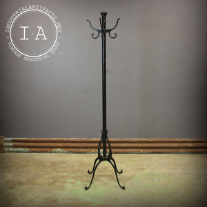 Antique Industrial Cast Iron Coat Rack Hall Hat Tree