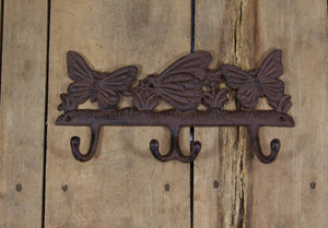 Cast Iron Butterfly Coat Rack