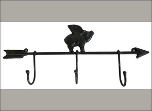 Iron Pig on Arrow Coat Rack