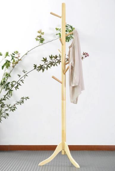 Oak coat stand with 8 hooks