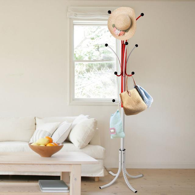 Two-color metal coat stand