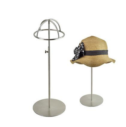 Free shipping Metal Hat display hat stand Gold hat display rack stainless steel hat holder cap display HH014-Matte Silver