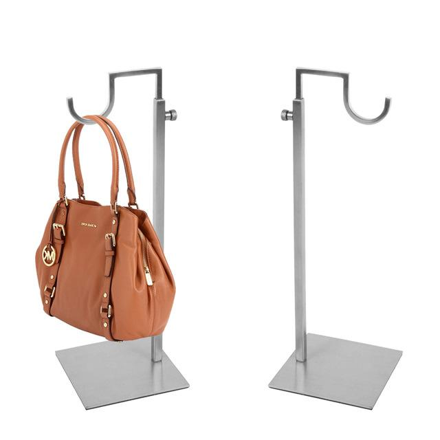 Linliangmuyu  Curved Hook metal Matte Silver / gold  Adjustable Handbag Display Stand  stainless steel Top-quality BJ15