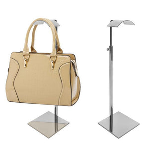 Half-arc shape women's handbag display holder stand rack adjustable height Linliangmuyu BJ09