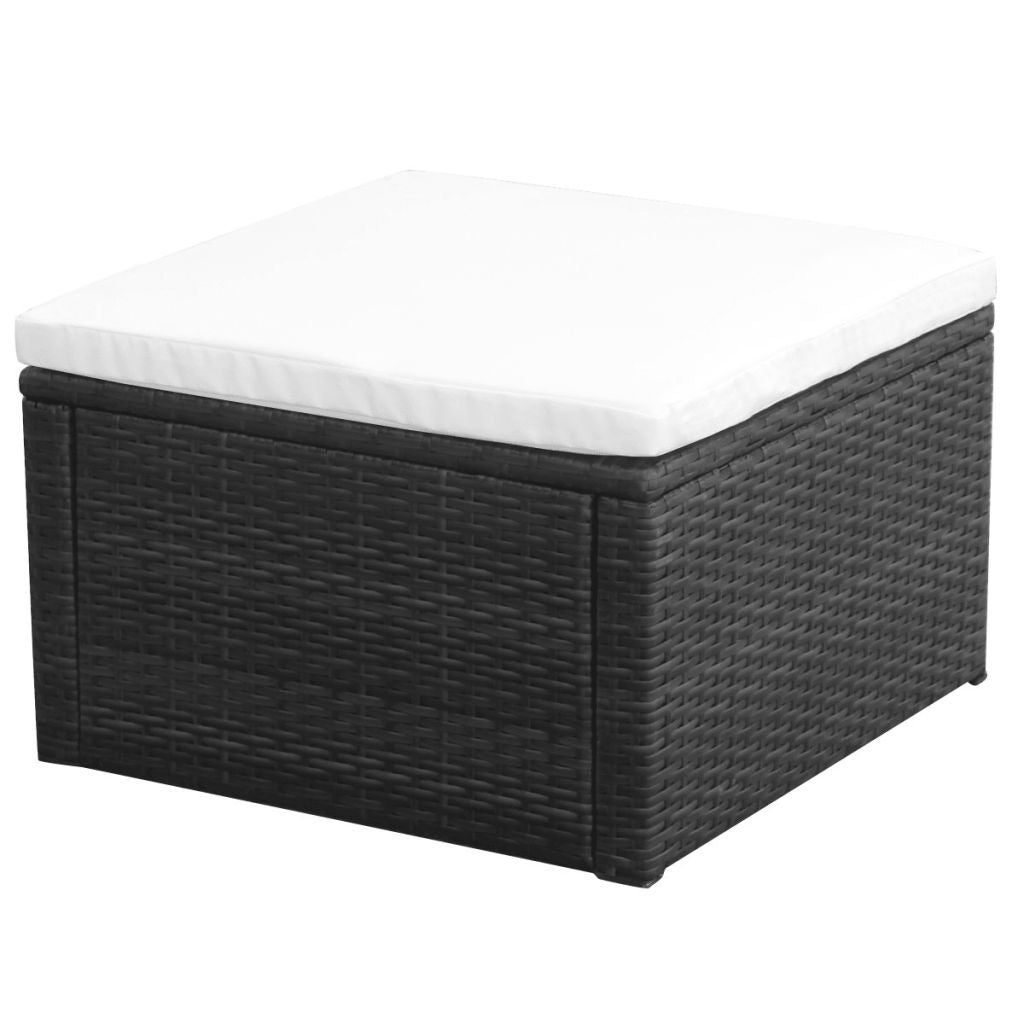 Poly Rattan Ottoman Table
