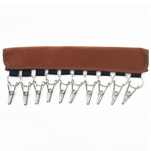 10 Clips Hat Rack Travel Storage