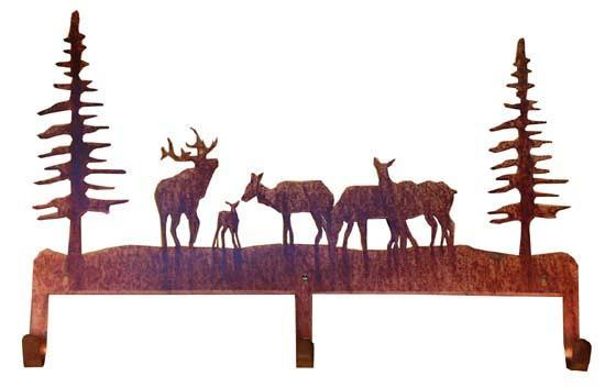 """Elk Herd"" Coat Rack"