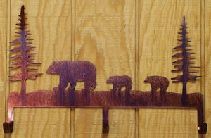 """Bear Family"" Coat Rack"