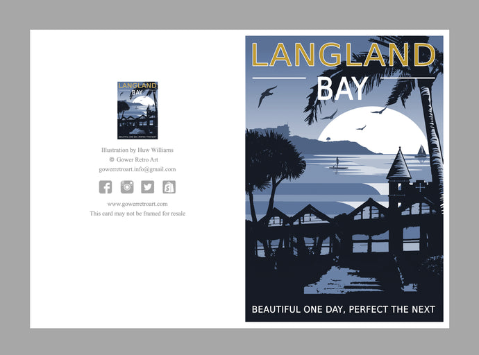 A6 Greeting Card (Langland Bay. Beautiful one day, perfect the next)
