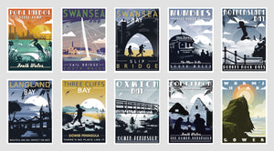 Gower Coastal Postcards (Pack of 10, version 2)