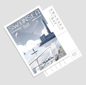 Swansea Bay (City by the sea) A6 Postcard
