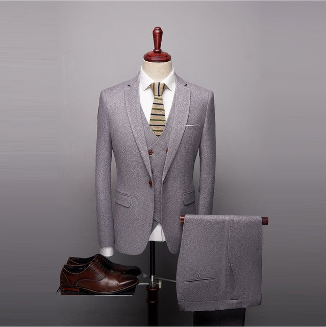 Suit Men 2020 High Quality Classic Grey Black Red Suit Men Designer Sl Thomis Miphildin