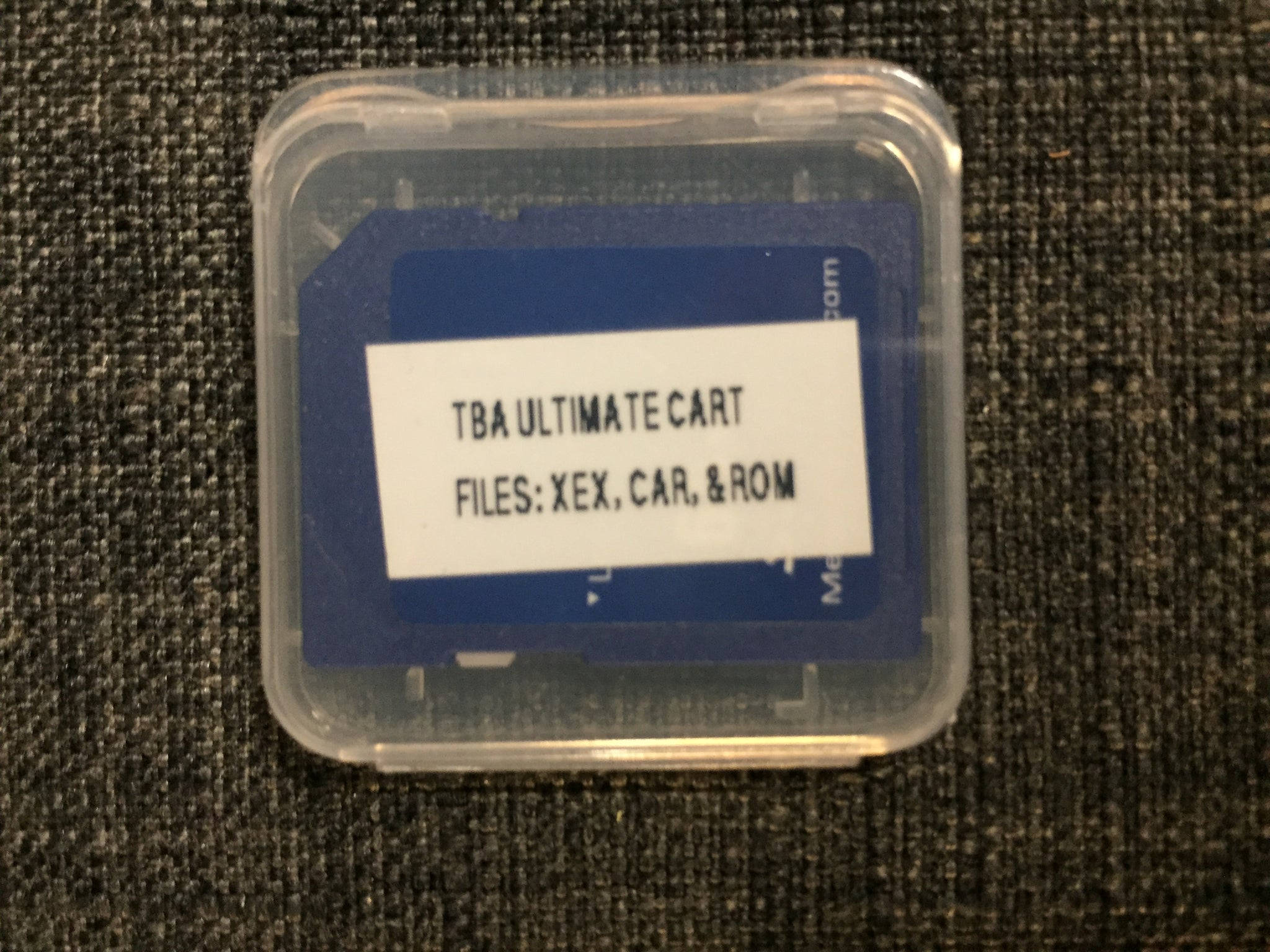 TBA's 8gb uSD & adapter Card for the Ultimate A8 Cartridge
