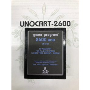 TBA's UNO-2600 Cartridge for Atari 2600 & Atari 7800