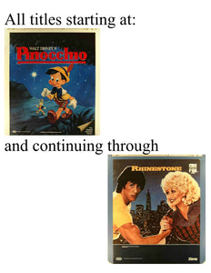 "RCA CEDs: Title Starts with ""Pinocchio"" through ""Rhinestone"""