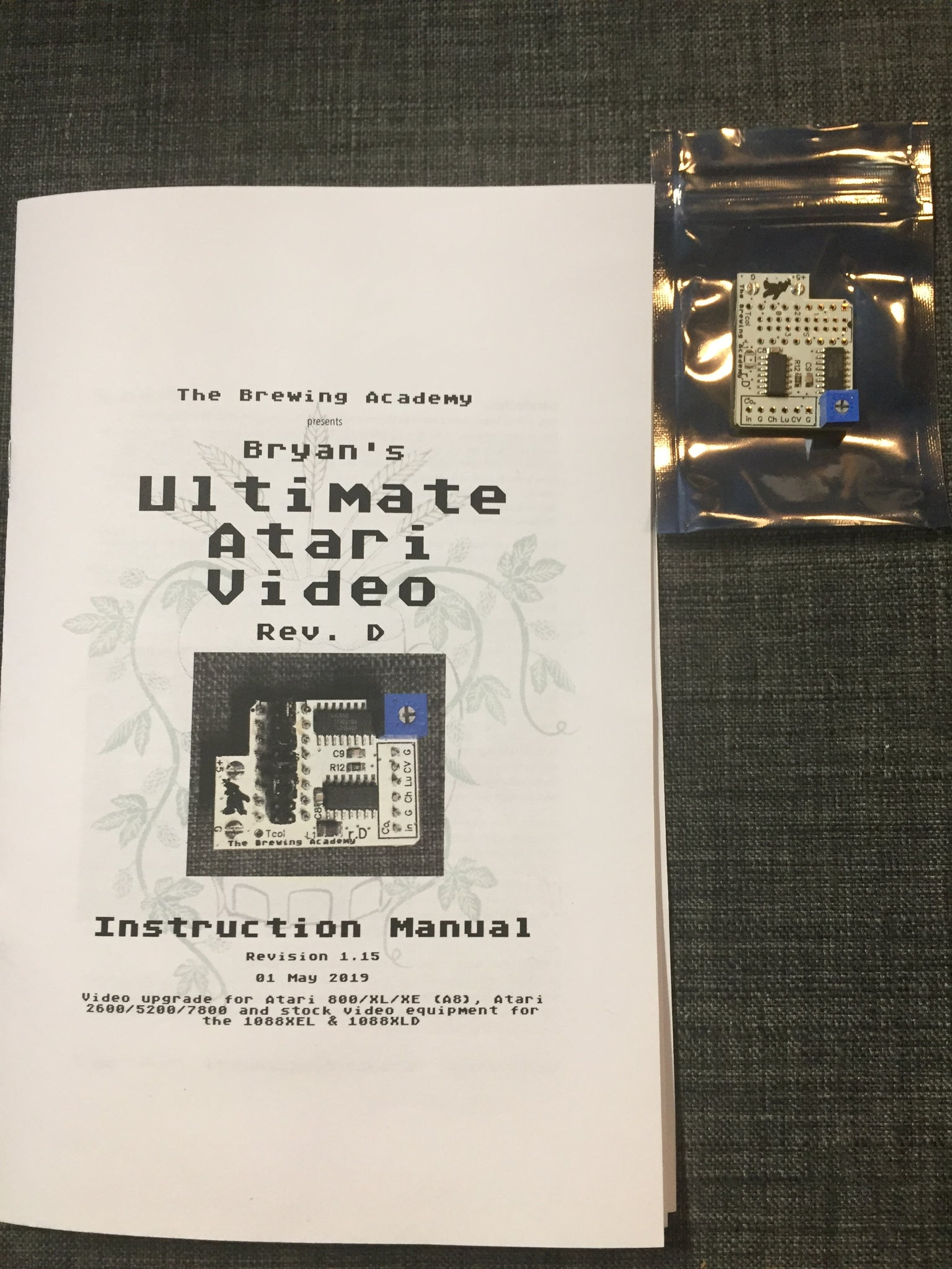 TBA's Ultimate Atari Video (UAV) board for 400/800/XL/XE Also for 1088XEL/XLD