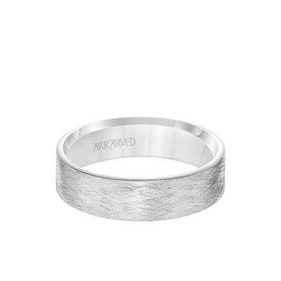6MM Men's Classsic Wedding Band - Emery Finish and Roll Edge