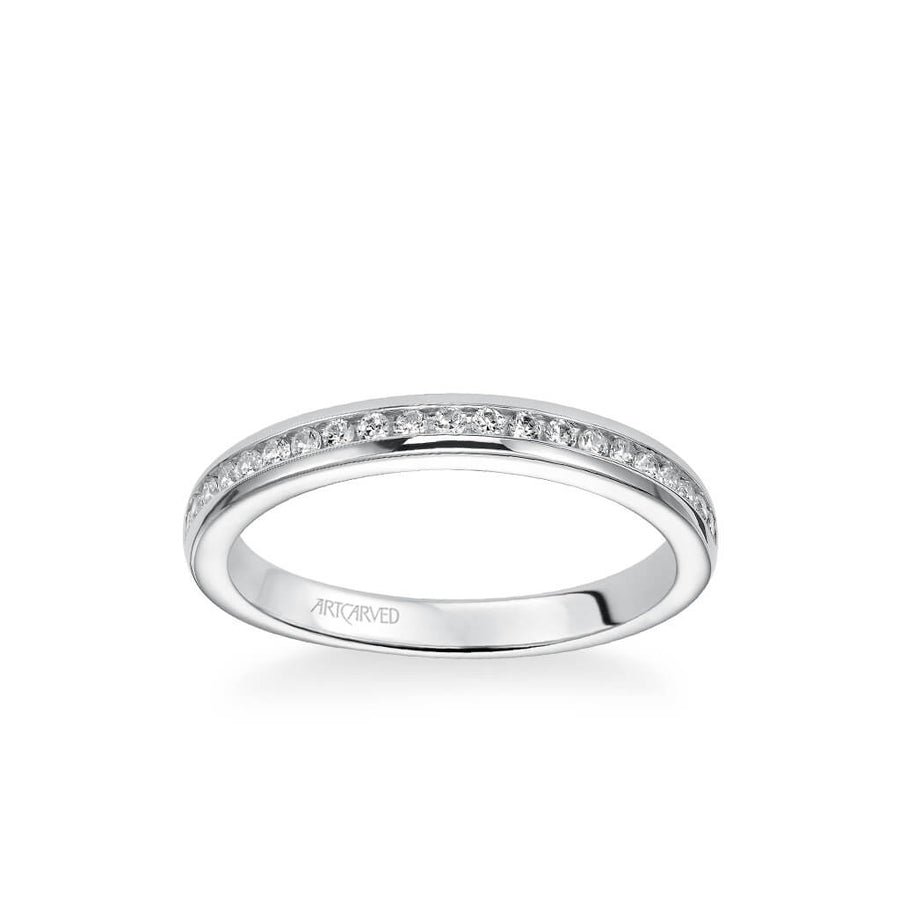 Amanda Classic Channel Set Diamond Wedding Band