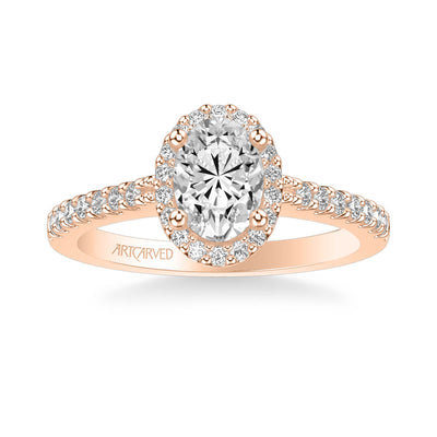 Kate Classic Oval Halo Diamond Engagement Ring