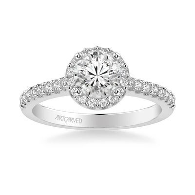 Layla Classic Round Halo Diamond Engagement Ring