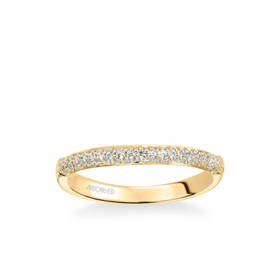 Reese Classic Diamond Pave Wedding Band