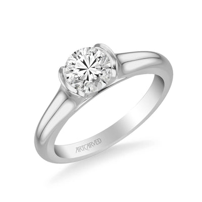 April Contemporary Solitaire Bezel Diamond Engagement Ring