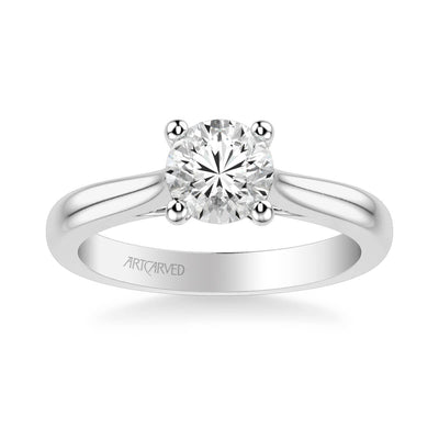 Lindsey Classic Solitaire Diamond Engagement Ring