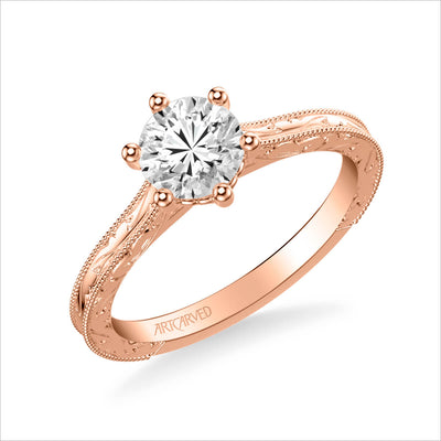 Gretchen Vintage Solitaire Diamond Engagement Ring
