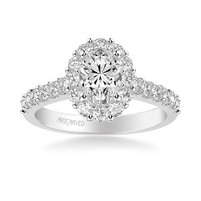 Genesis Classic Oval Halo Diamond Engagement Ring