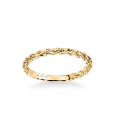 Joanna Contemporary Polished Rope Wedding Band