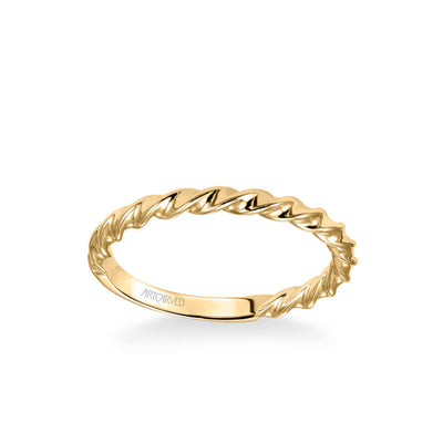 Jolie Contemporary Polished Rope Wedding Band