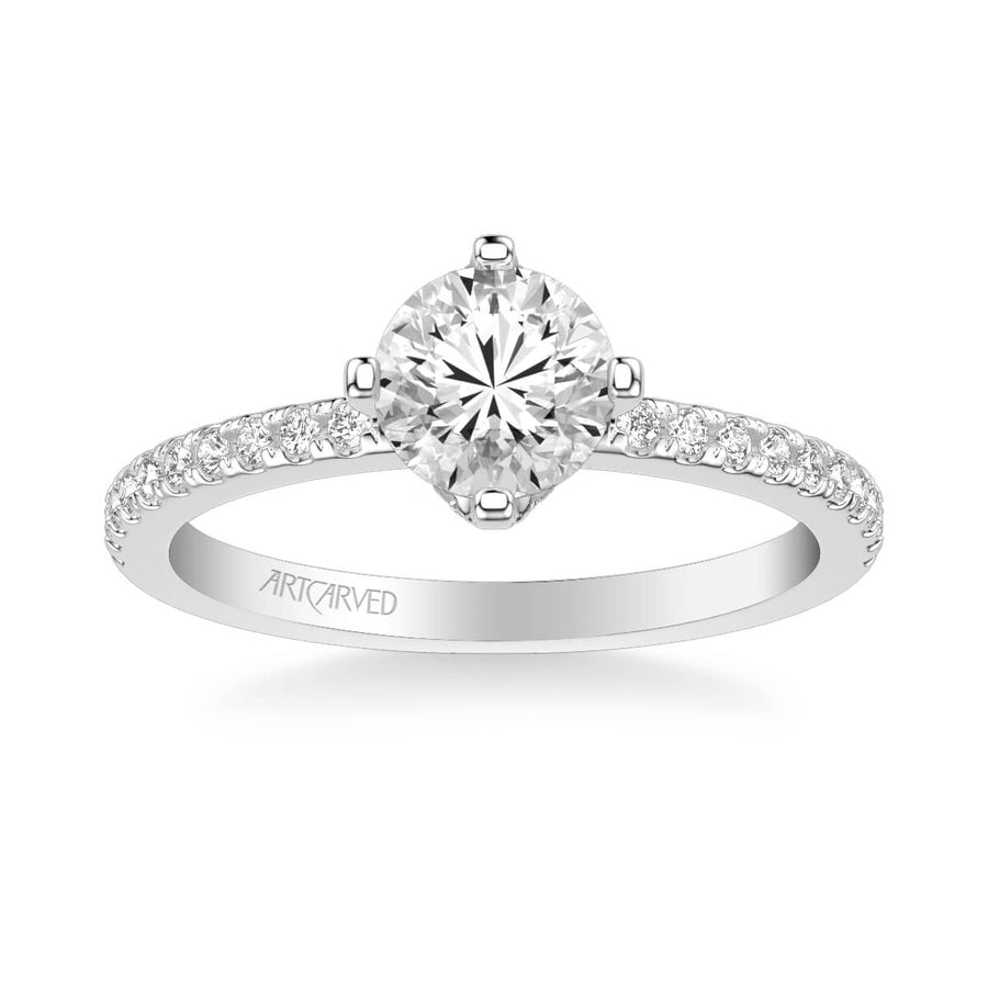 Ashlyn Classic Side Stone Diamond Engagement Ring