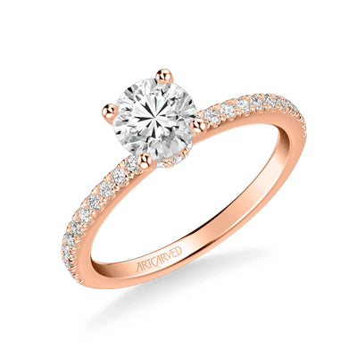 Sybil Classic Side Stone Diamond Engagement Ring