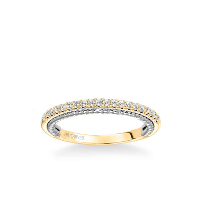 Ilena Contemporary Diamond and Rope Wedding Band
