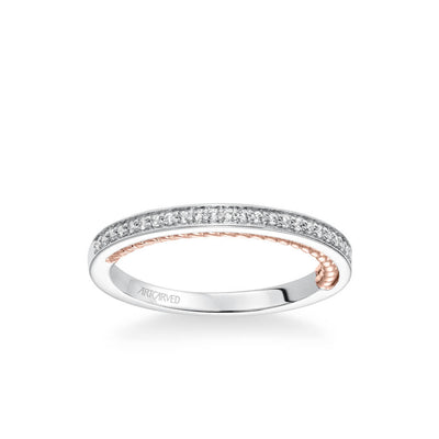 Marlow Contemporary Diamond and Rope Wedding Band