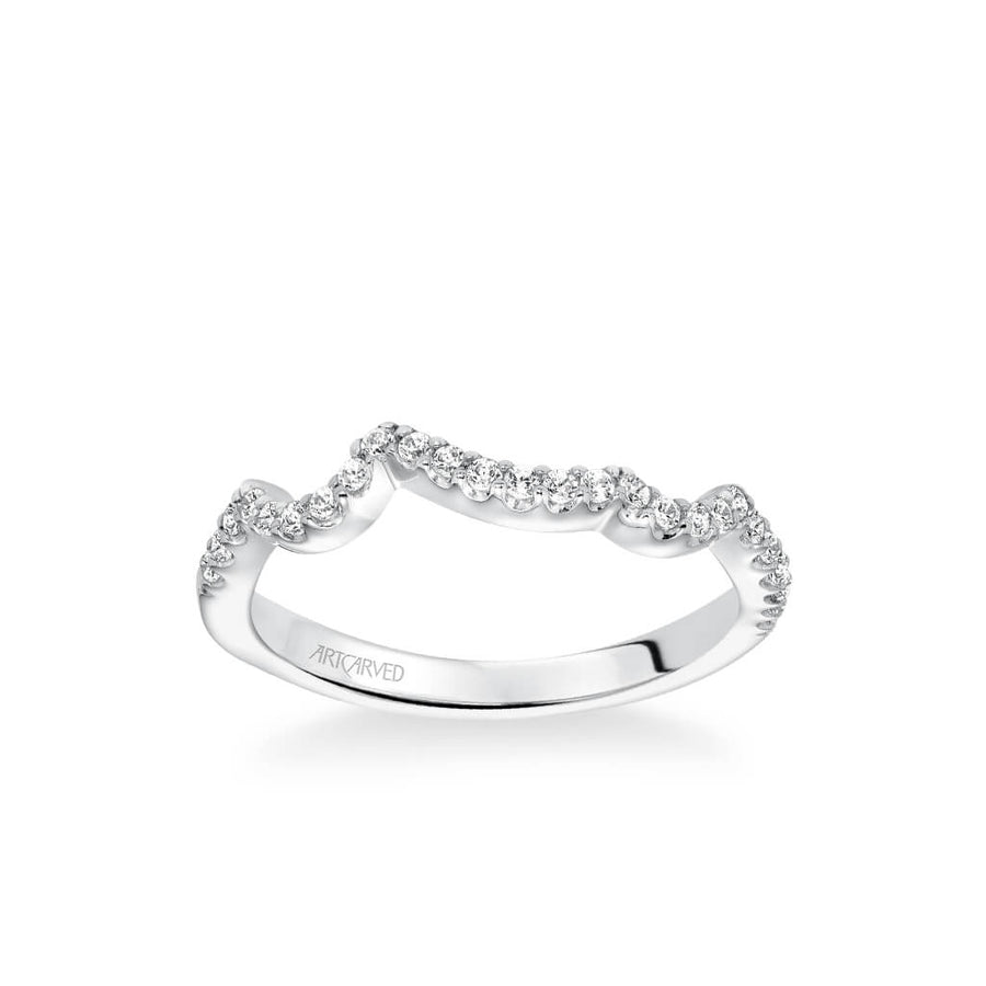 Thalia Contemporary Diamond Curved Wedding Band