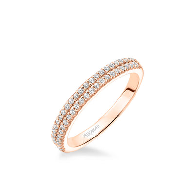 Avril Classic Double Row Diamond Wedding Band