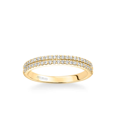 Dorothy Classic Double Row Diamond Wedding Band
