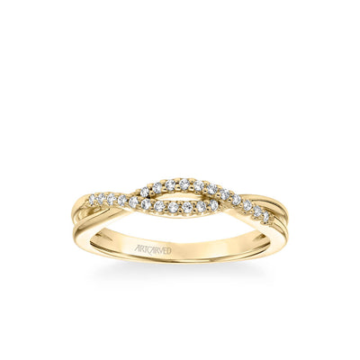 Kennedy Contemporary Diamond Twist Wedding Band