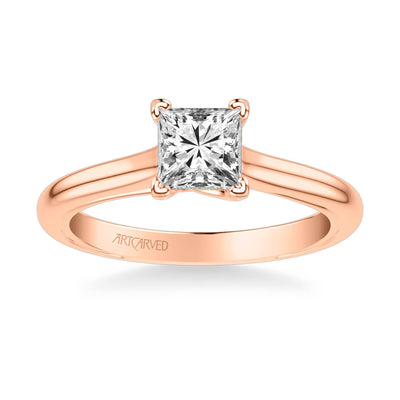 Tayla Contemporary Solitaire Twist Diamond Engagement Ring