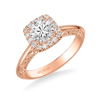 Audriana Vintage Halo Heritage Collection Diamond Engagement Ring