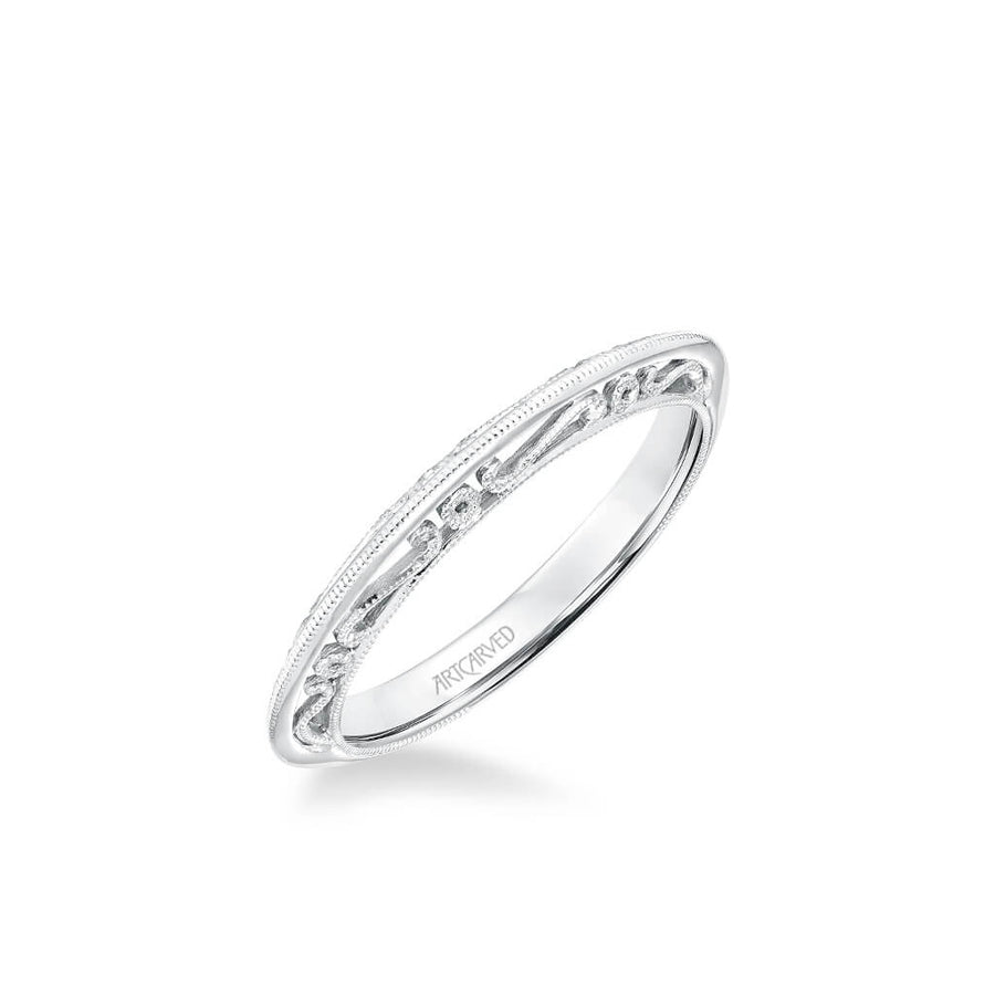 Audriana Vintage Heritage Collection Milgrain Filigree Scrollwork Wedding Band