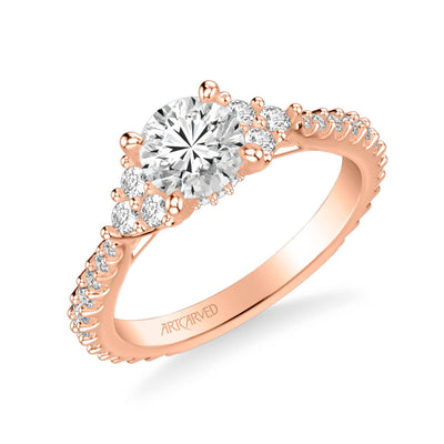 Clio Classic Three Stone Diamond Engagement Ring