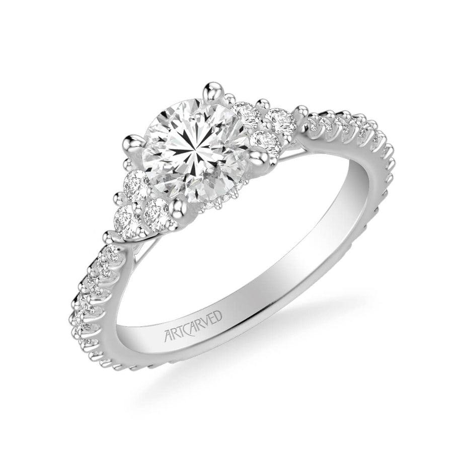 0dba7a10c clio classic three stone diamond engagement ring From $2,649.00