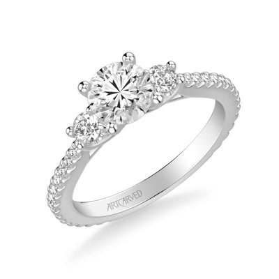 Jill Classic Three Stone Diamond Engagement Ring